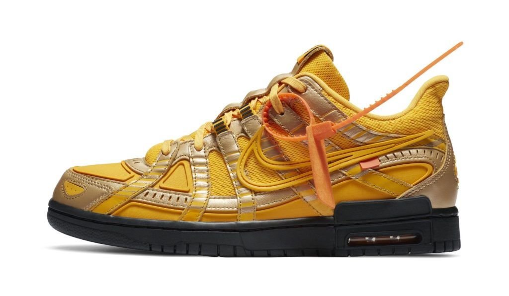 Off-White x Nike Rubber Dunk 'University Gold'