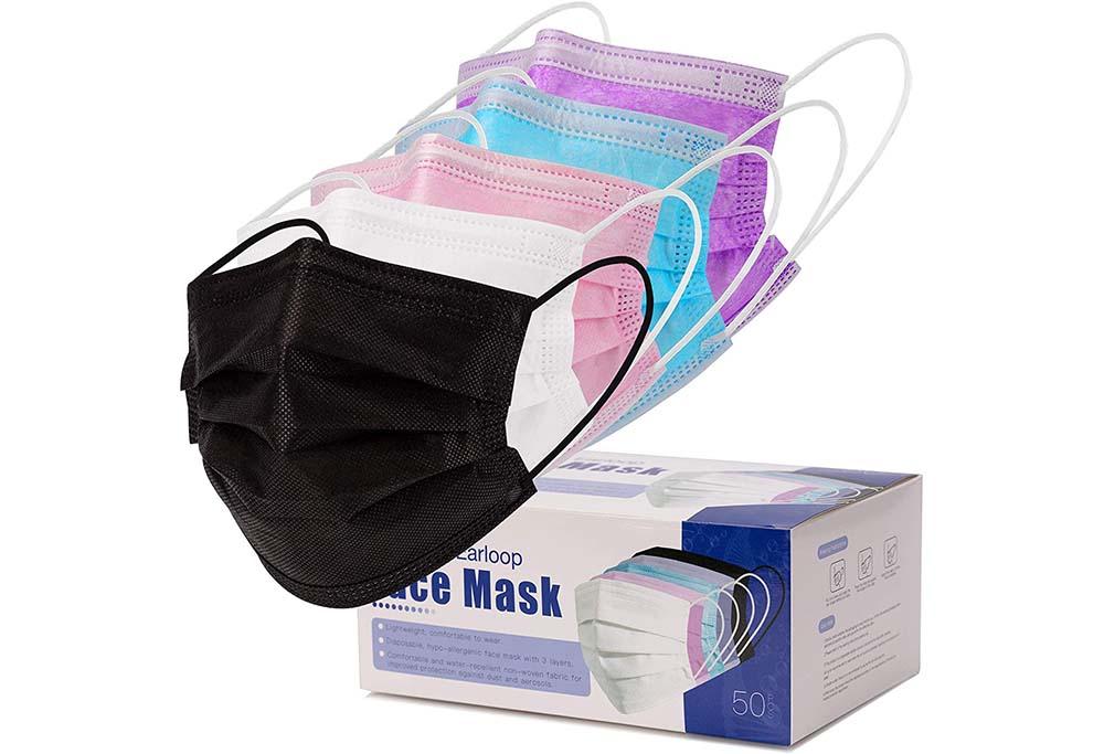 DXLOVER 50 Pcs Disposable Face Masks