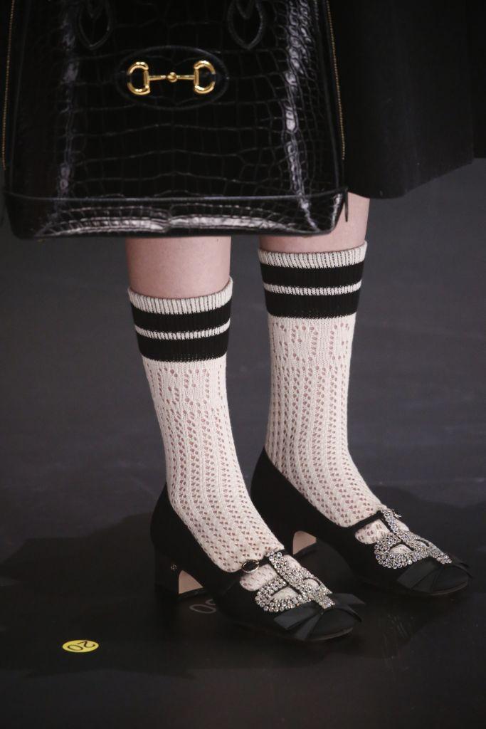 gucci, gucci fall 2020, gucci socks, white sock trend, tube socks, socks, crew socks, white socks, fall 2020 trends, fall trends