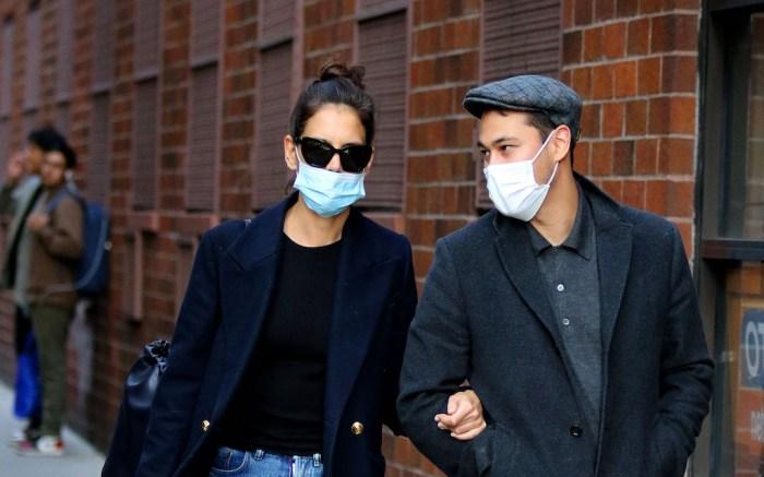 Katie Holmes and boyfriend Emilio Vitolo Jr. walk arm-in-arm in NYC