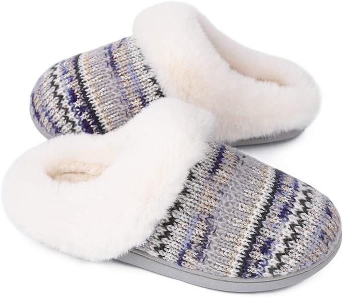 LongBay Knit Fuzzy Slippers