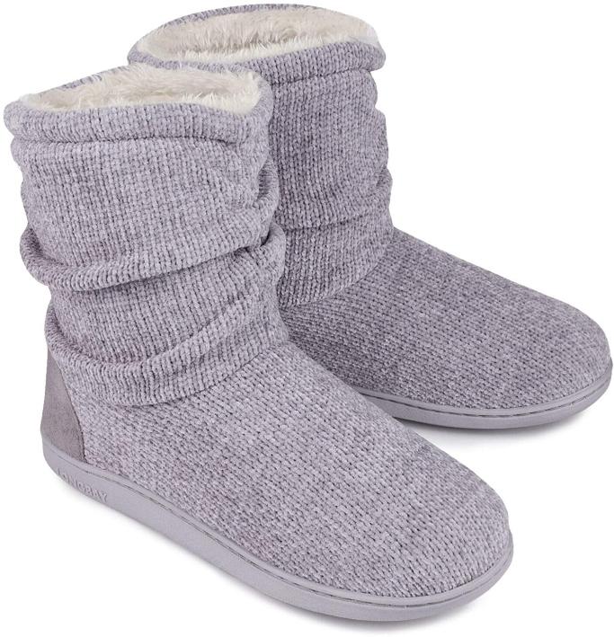 LongBay Women's Chenille Knit Bootie