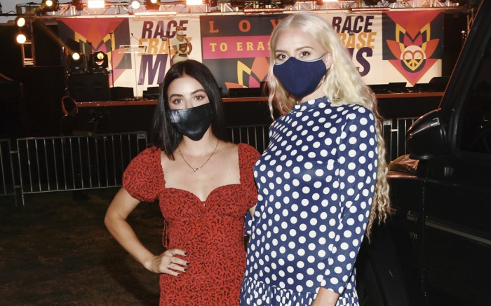 lucy hale, katie welch, drive in to erase ms