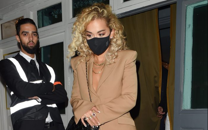 Rita Ora Leaves The Broadway Cocktail Bar In Muswell Hill Wearing Leather Shorts And A Suit Jacket