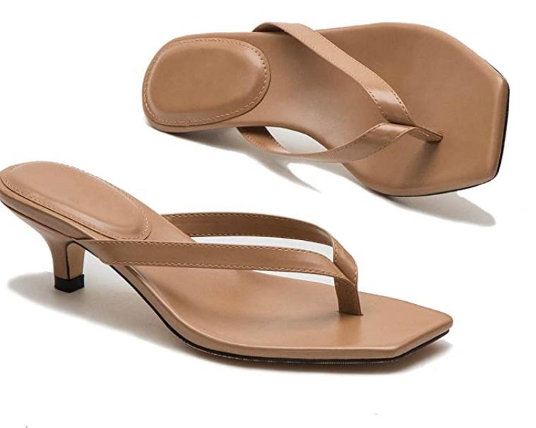 flip flop, kitten heels