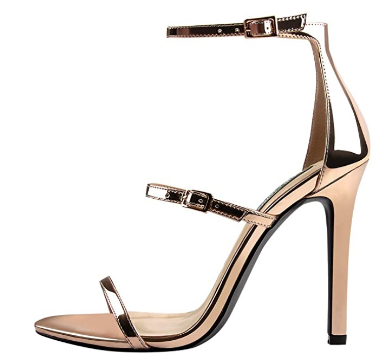 strappy stilettos