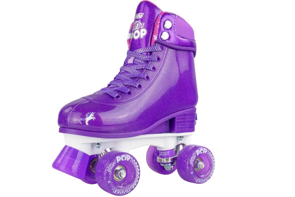 Crazy Skates Adjustable Roller Skate glitter pop, roller skates for girls