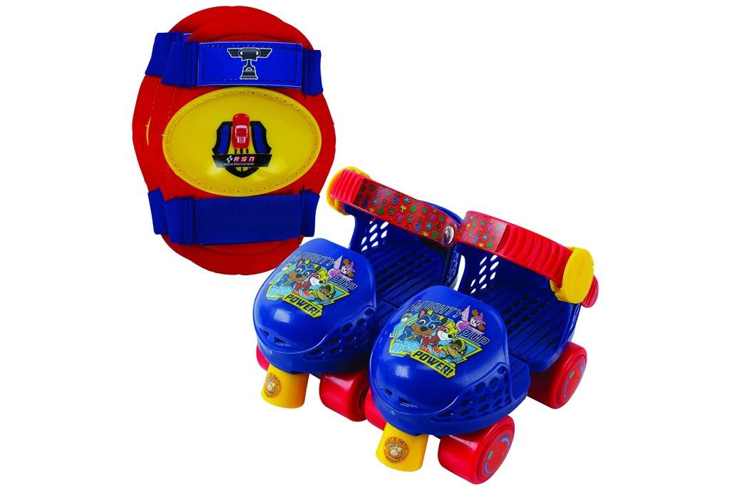 PlayWheels Paw Patrol Roller Skates with Knee Pads, Adjustable Roller Skates