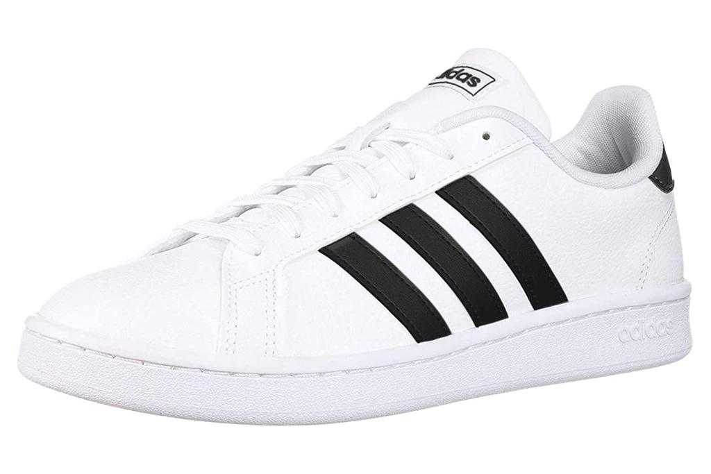 black, white, sneakers, adidas