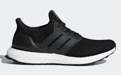 adidas, ultraboost, sneakers, running, black