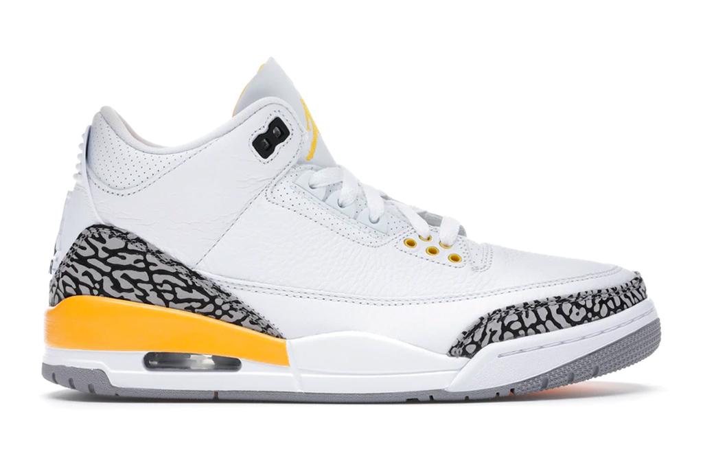 air jordan, jordan brand, sneakers, yellow, white, elephant