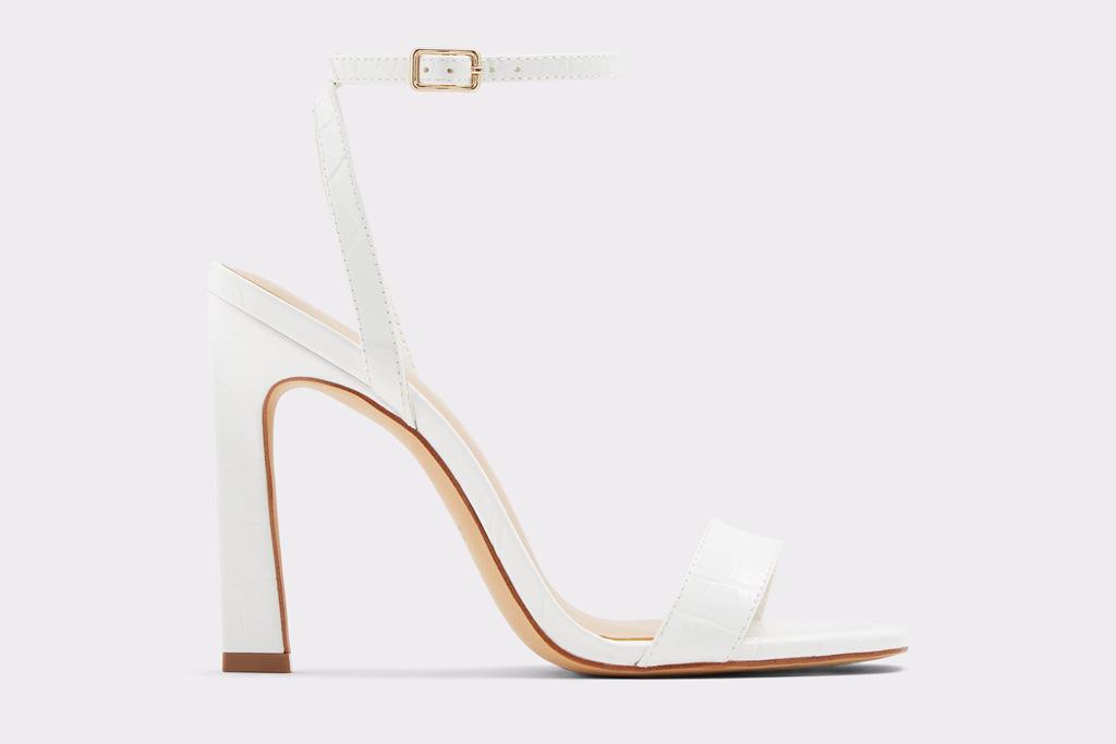 white heels, sandals, thin strap, stiletto, aldo