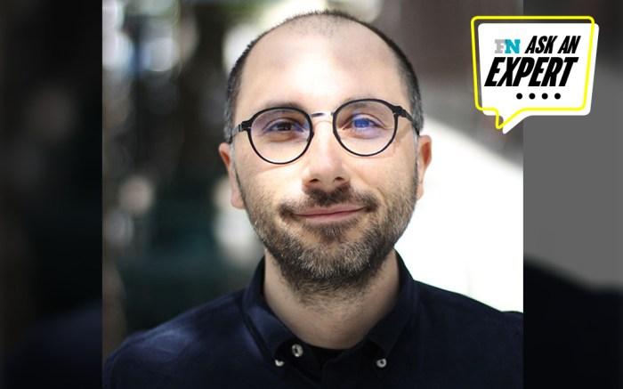 headshot of Alper Aydemir from Volumental overlaid with Ask An Expert logo