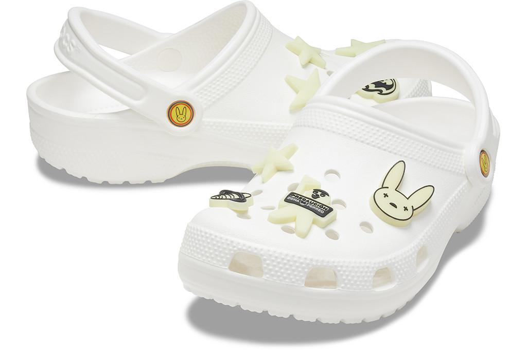 crocs x bad bunny, glow up classic clogs, bad bunny crocs