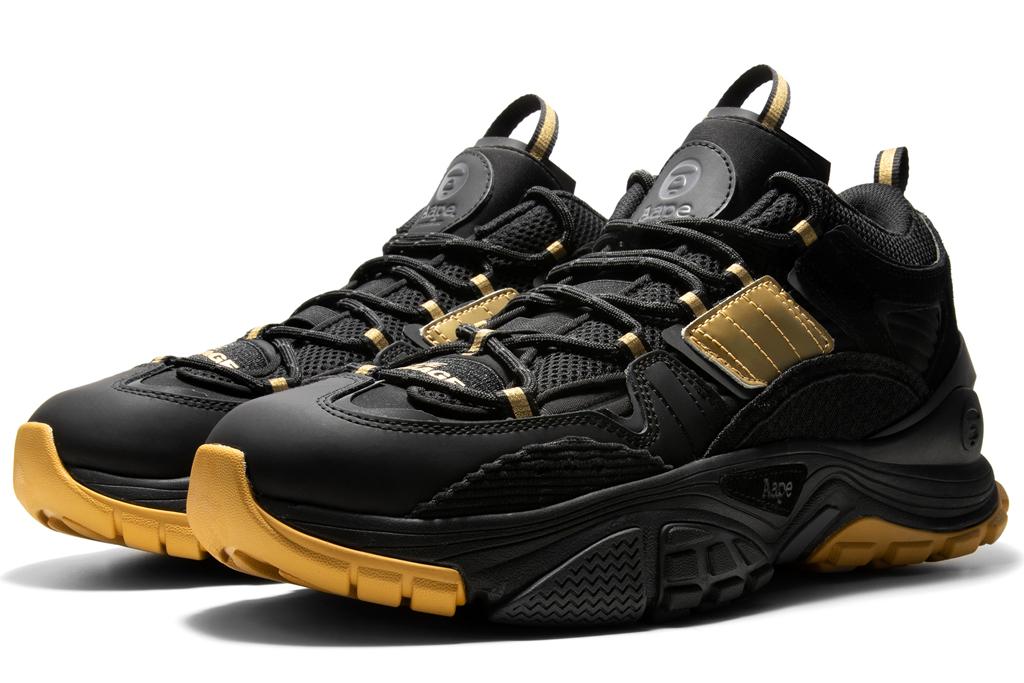 bape, league of legends, sneakers, gold, black