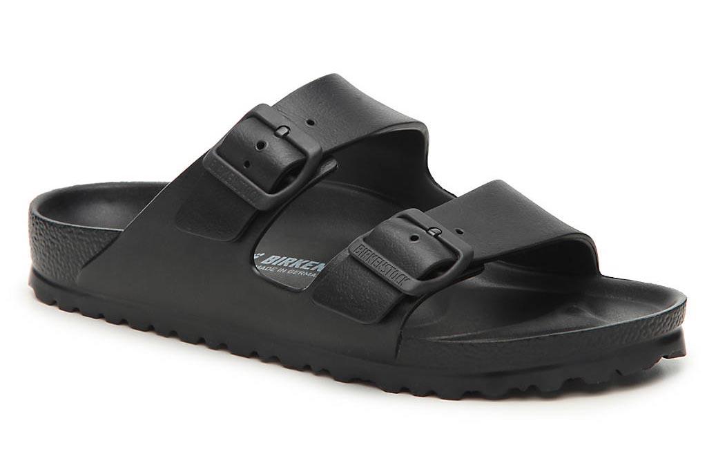 birkenstock, arizona, sandals, slides, black