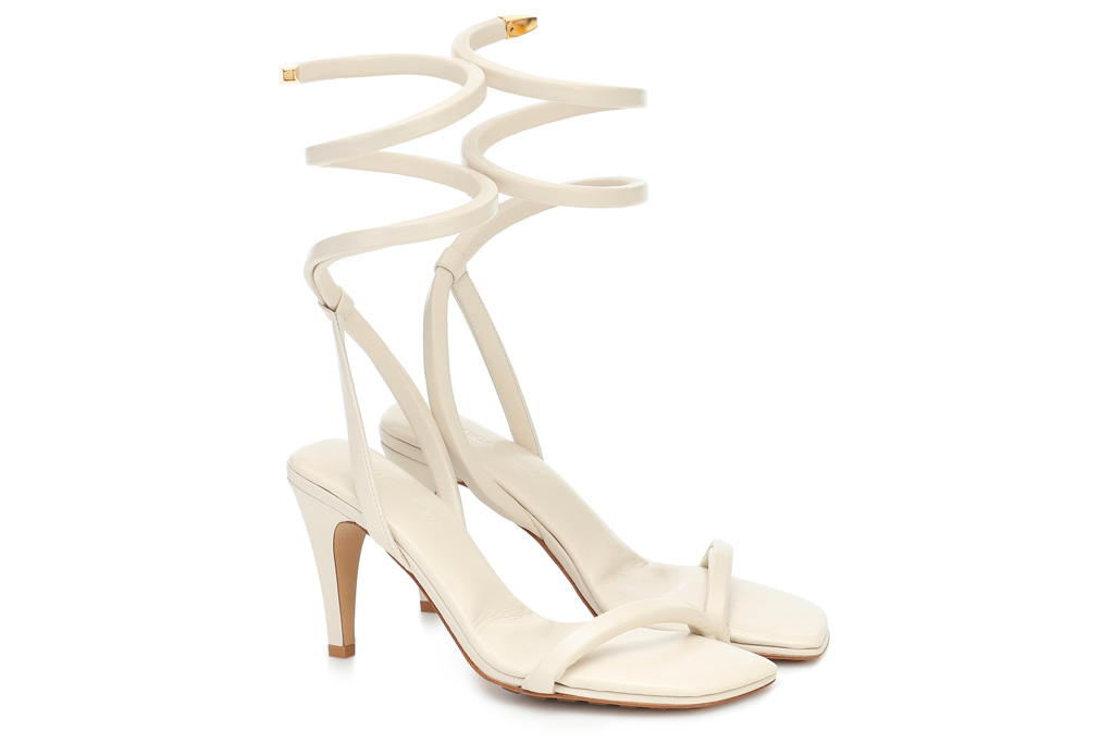 bottega veneta, sandals, bv spiral, white, wrap