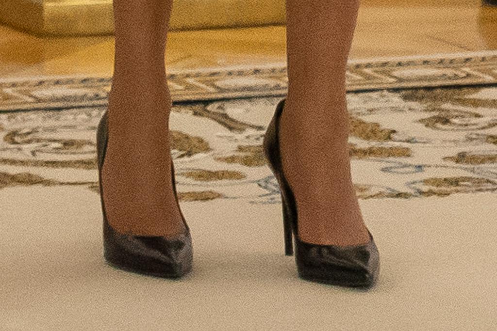 brigitte macron, blue dress, coat, heels, louis vuitton, style, shoes, president, first lady, france, lithuania