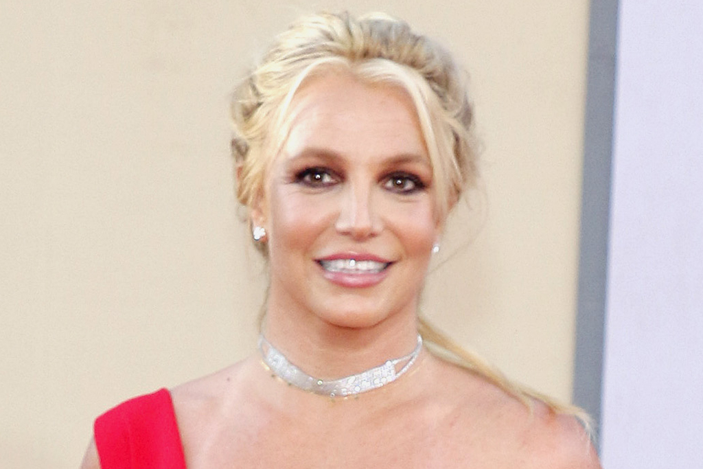 Britney Spears Goes Upside Down In A Tube Top Shorts Red Hot Adidas Footwear News