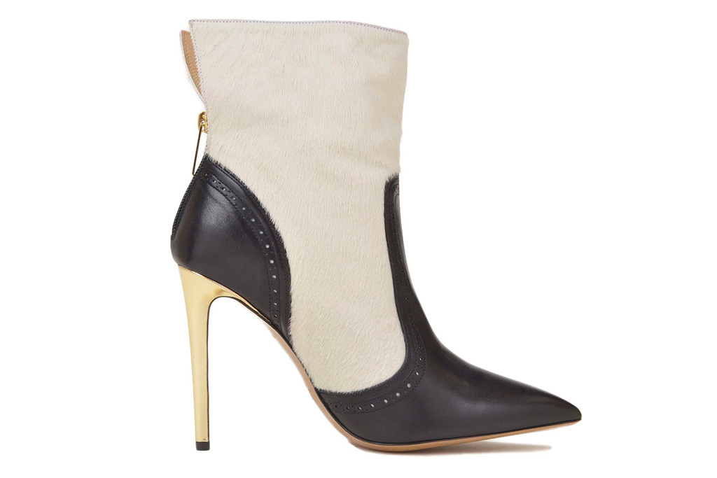 boots, black, white, booties, heeled, bruno magli