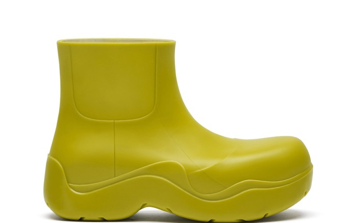 bottega veneta puddle boot, luxury rainboot, green rainboot
