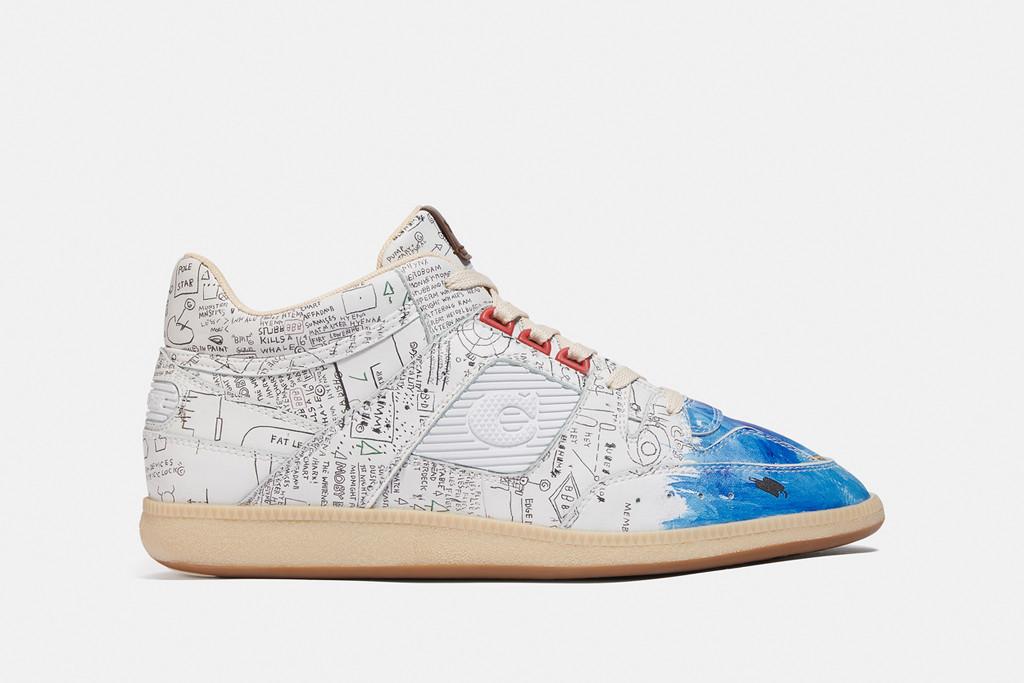 coach x basquiat sneaker, coach x basquiat collection, fall '20 coach