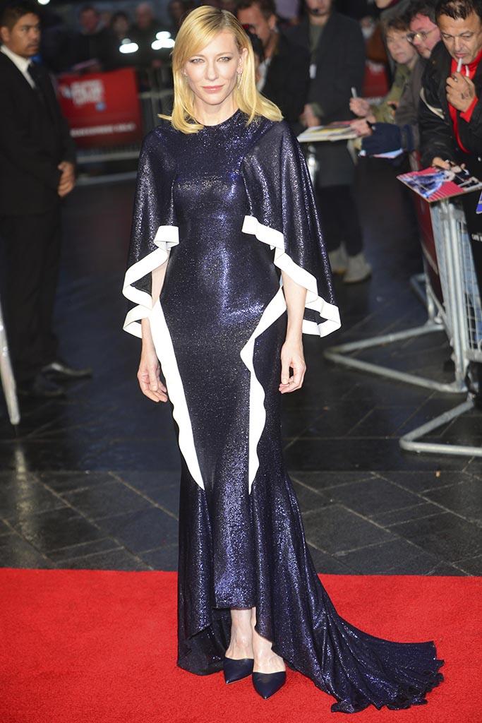 Cate Blanchett at the BFI London Film Festival American Express Gala 'Carol' at the Odeon, Leicester Square, London on October 14th 2015 Newscom/(Mega Agency TagID: ptsphotoshottwo854942.jpg) [Photo via Mega Agency]