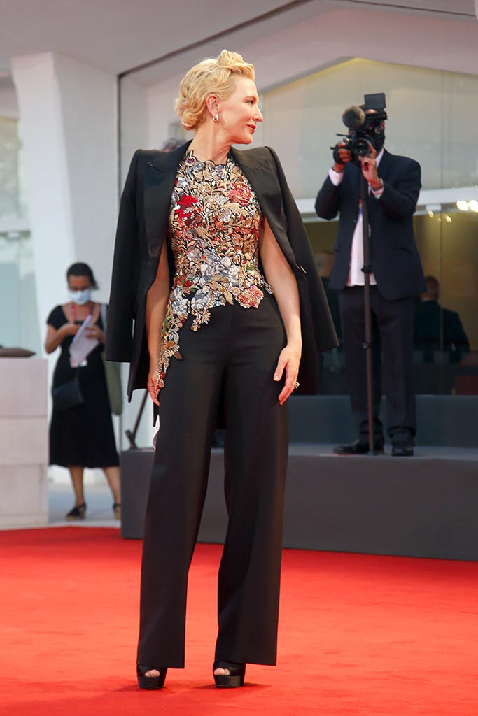 attending the 'Amants/Lovers' premiere at the 77th Venice International Film Festival on September 3, 2020 in Venice, Italy. 03 Sep 2020 Pictured: Cate Blanchett. Photo credit: MEGA TheMegaAgency.com +1 888 505 6342 (Mega Agency TagID: MEGA698251_001.jpg) [Photo via Mega Agency]