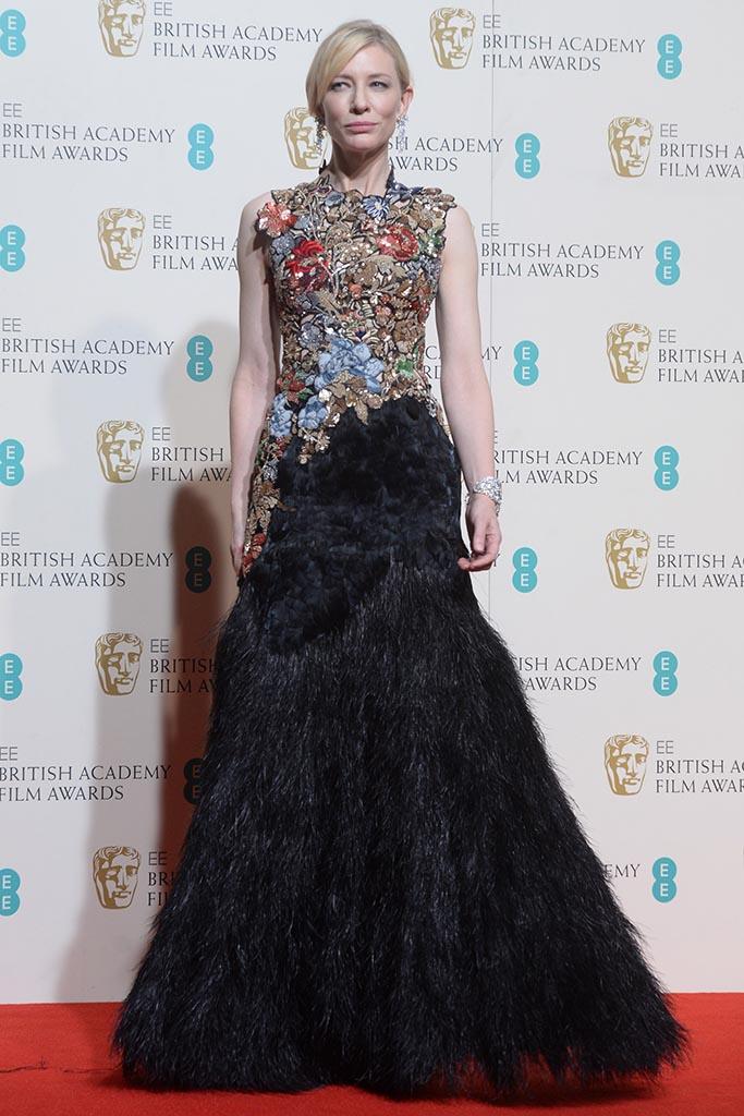 Australian actress Cate Blanchett attends the winner's room at the EE British Academy Film Awards at the Royal Opera House in London on February 14, 2016.      Photo by Rune Hellestad/UPI Newscom/(Mega Agency TagID: upiphotostwo434309.jpg) [Photo via Mega Agency]