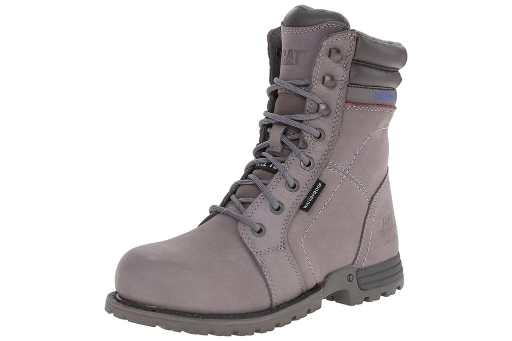 boots, work boots, khaki, tan, catepillar