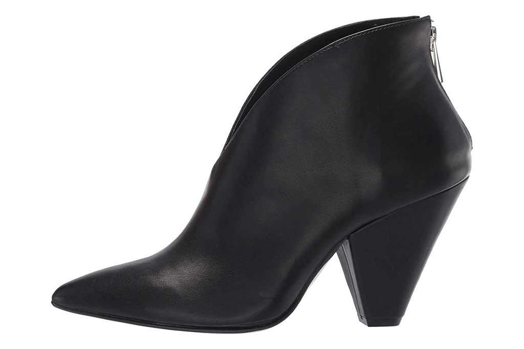 black boots, booties, cone heel, chinese laundry