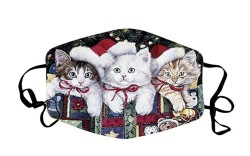 christmas face masks, cat face mask,