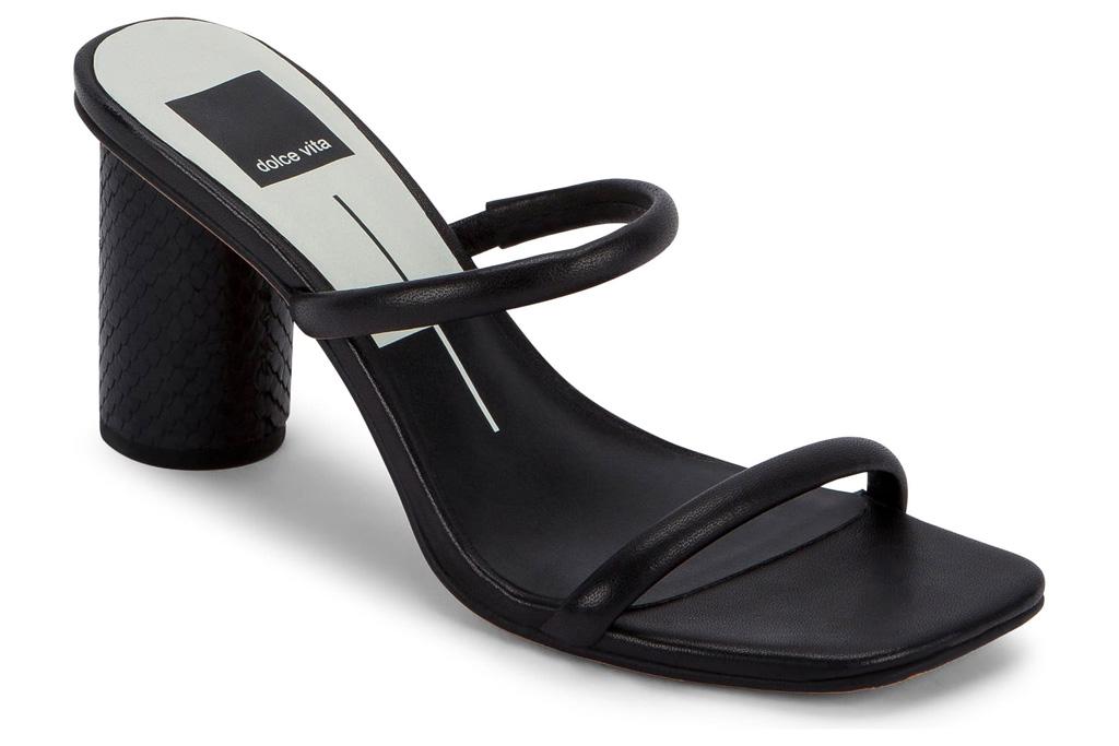 sandals, black, strappy, block heel, dolce vita