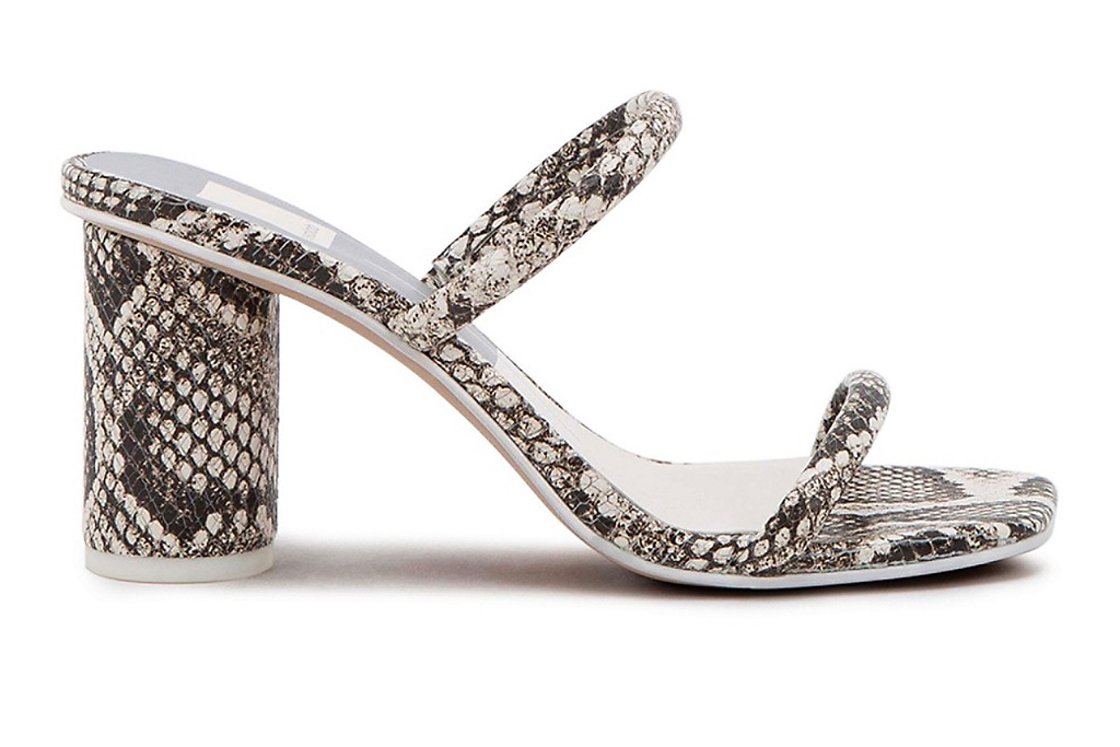 snakeskin sandals, sandals, mules, straps, python, dolce vita