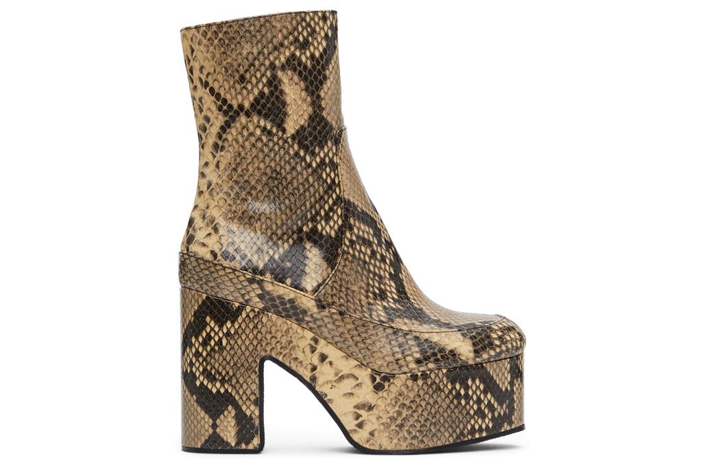 dries van noten, boots, booties, snakeskin, platform