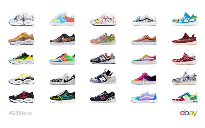 eBay 25 Kicks custom sneaker auction