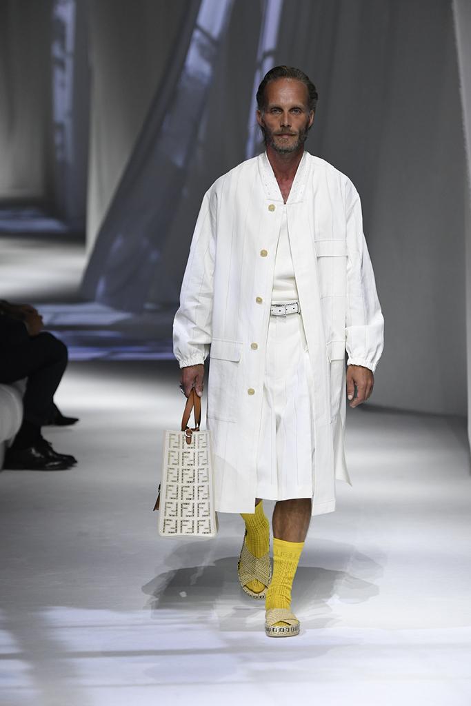 fendi, fendi spring 2021, mfw, milan fashion week, spring 2021, socks and sandals, ugly sandals