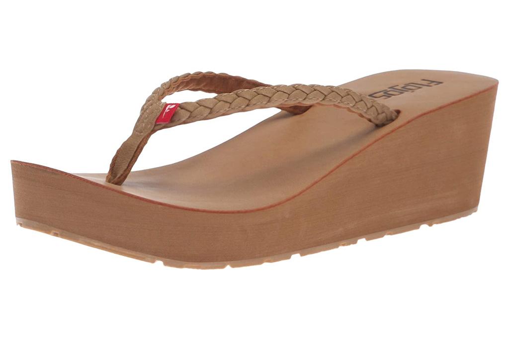flojos sandals, tan, thong