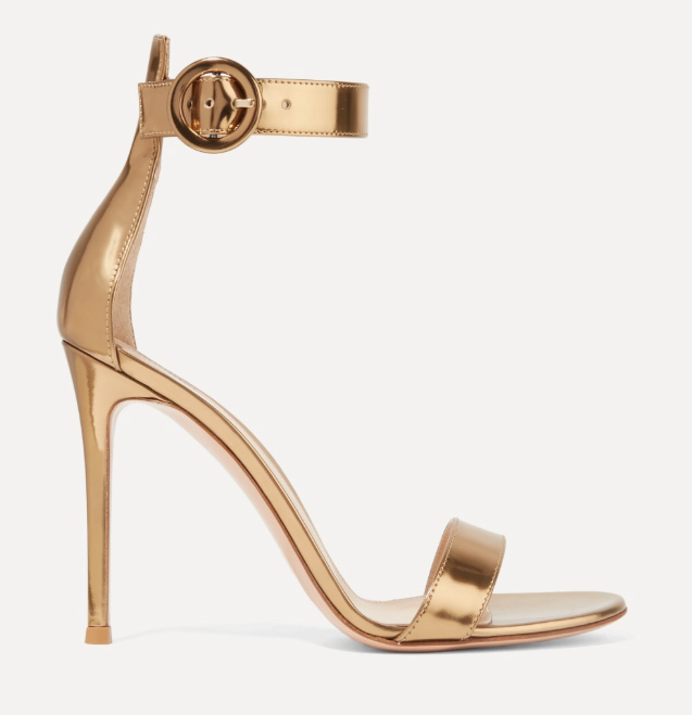 gianvito rossi, sandals, portofino, gold, sandals