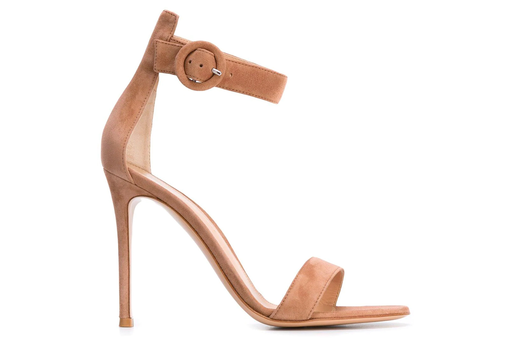 suede, nude, gianvito rossi, portofino sandals