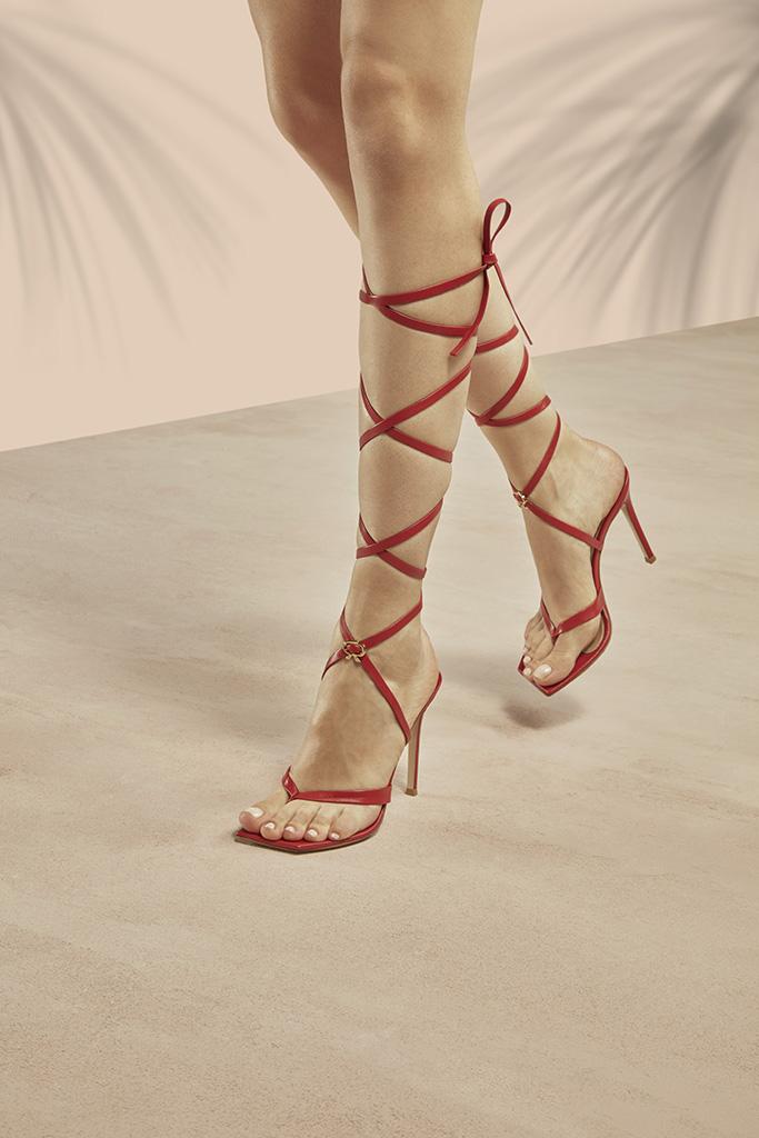 Gianvito Rossi RIbbon Gladiator Sandal