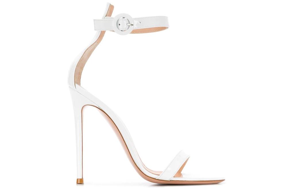 gianvito rossi, sandals, white, heel, portofino
