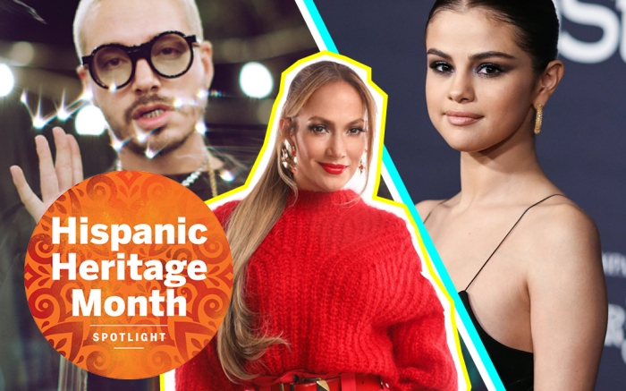 hispanic heritage month, top latinx fashion influencers, j balvin, j lo and selena gomez