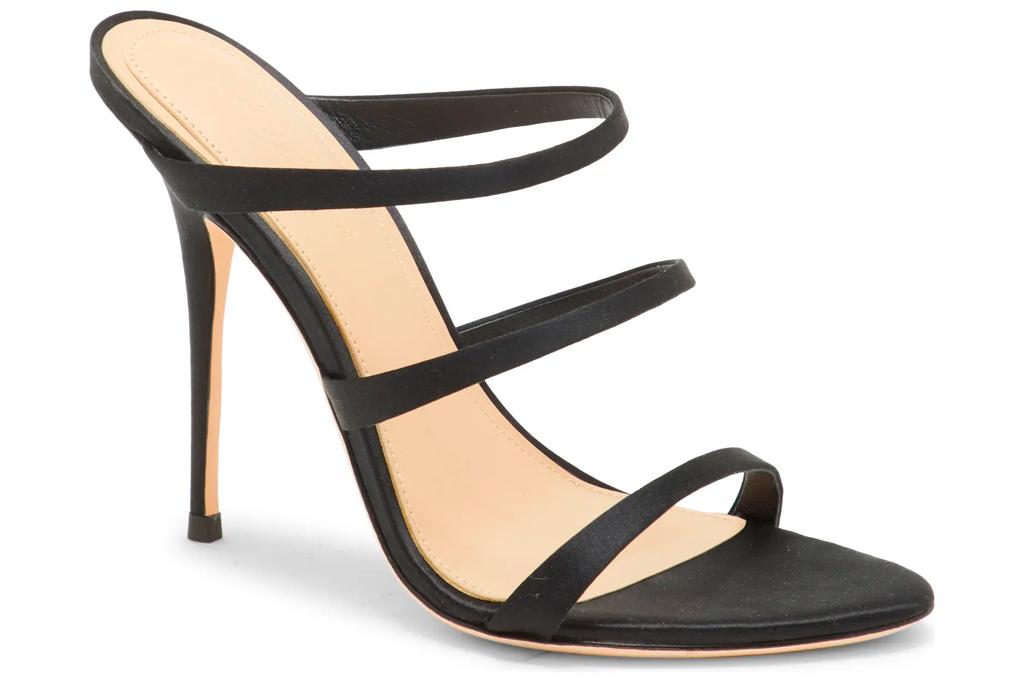 sandals, black, strappy, stiletto, imagine, vince camuto