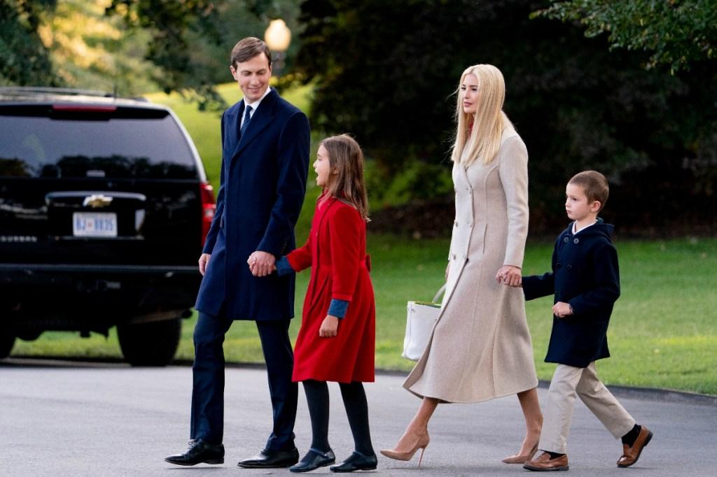 ivanka trump, coat, dress, shoes, style, jared kushner, husband, kids, son, daughter