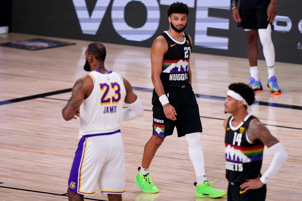 jamal murray, sneakers, shoes, green, denver nuggets