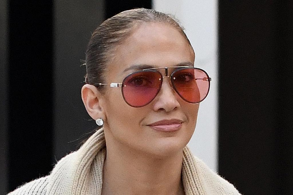 J-Lo Gets Daring in a Boyfriend Shirt, White Briefs and Glittering Snakeskin Boots - Footwear News