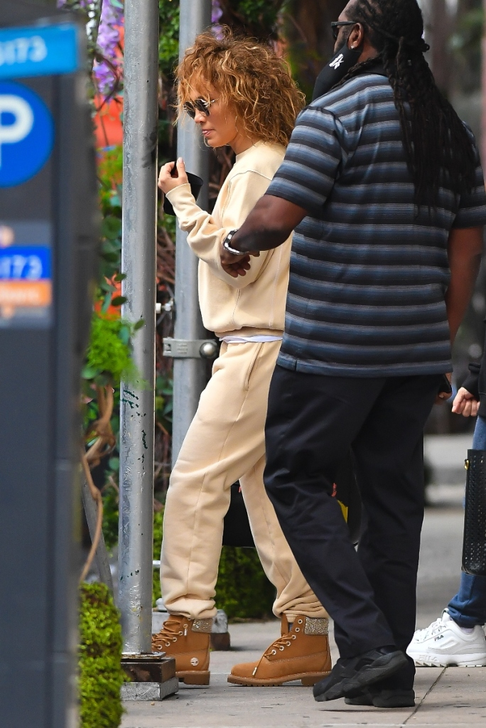 jennifer lopez, emme muniz, jlo, sneakers, boots, jimmy choo, timberland, sweatpants, sweats