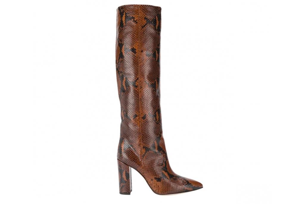 boots, snakeskin, brown, knee-high, heeled, jessica buurman