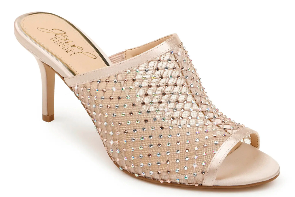 glittering heels, sandals, shoes, rhinestone, jewel, badgley mishcka